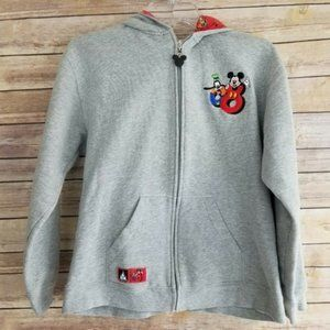Disney World Kids Gray Hoodie Mickey Mouse 2008